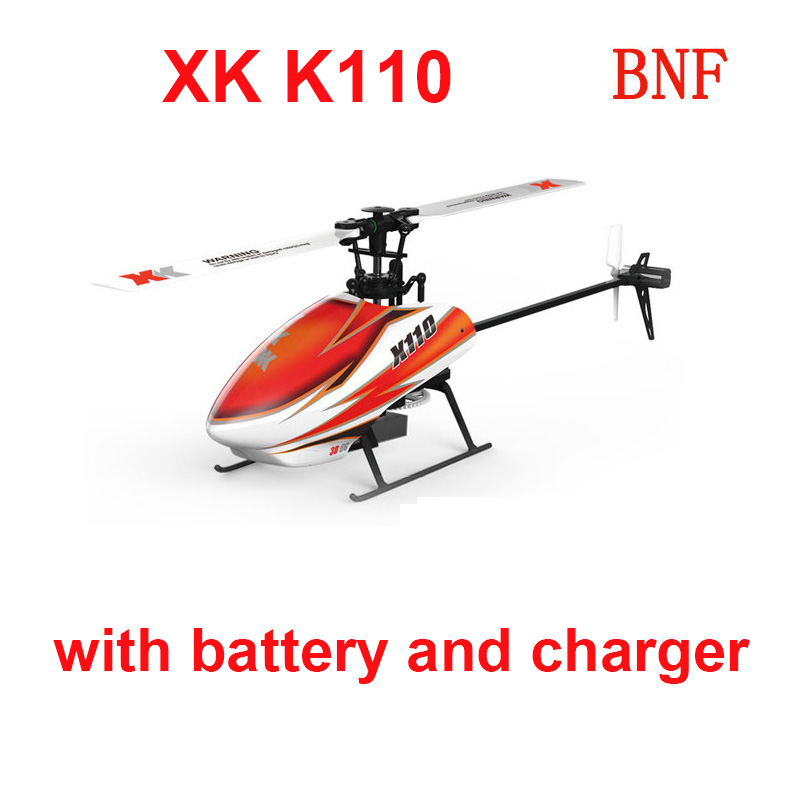 Original XK K110 BNF (without transmitter )(with battery and charger ) 6CH Brushless 3D 6G RC Helicopter Compatible with FUTABA original xk k124 bnf without tranmitter ec145 6ch brushless motor 3d 6g system rc helicopter compatible with futaba s fhss
