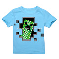 Minecraft T Shirts Short Sleeve T-shirts 2016 New design Summer Children Cartoon 100% Cotton T-Shirts for Boys Kids