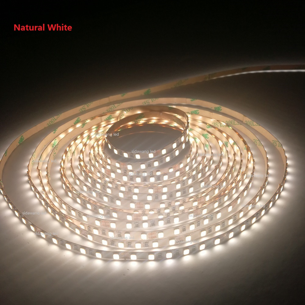5mm Pcb,cri>90ra,nonwaterproof Led Strip Lights 2800-6500k 120leds/m,5m Per Reel 22-24lm/led Superbright 2835smd Led