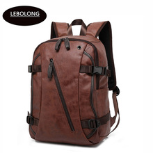 09f391b75f High Quality PU Leather Patent Backpacks Men s Fashion Zipper Backpack  Travel Bags Western College Style Bags