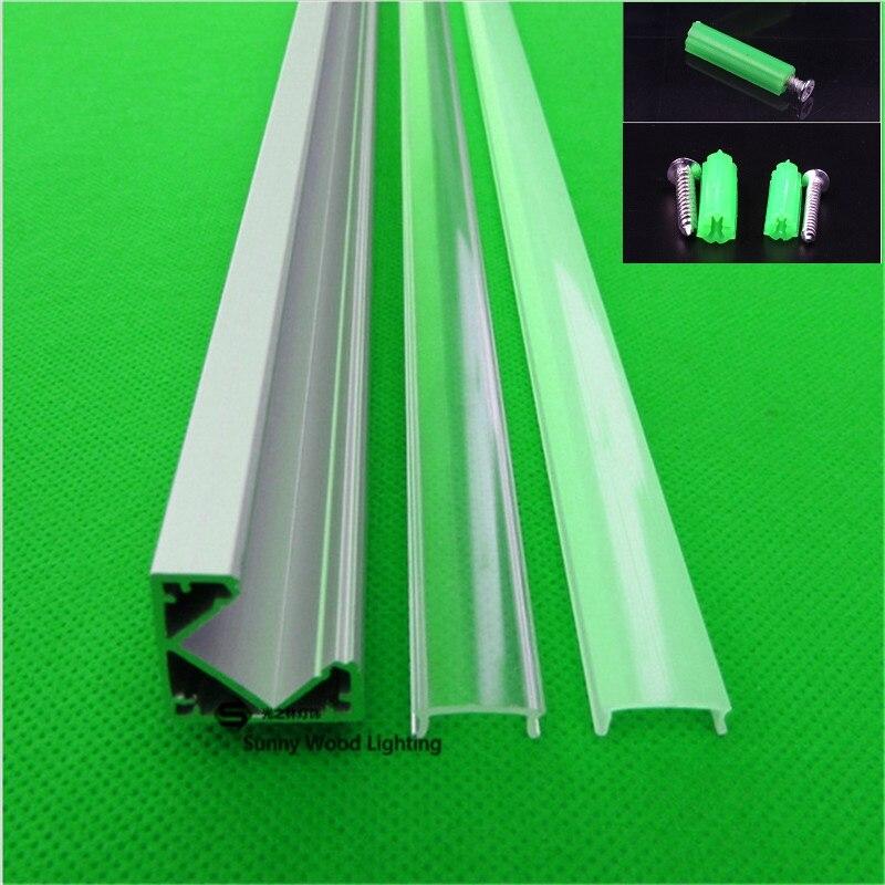 10pcs lot led aluminium profile for led bar light 45 degree led corner aluminum channel 12mm