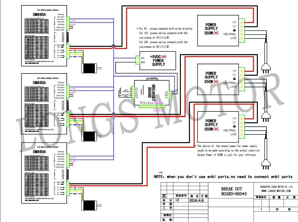 us $372 4 5% off eu free!cnc longs 3 axis nema 34 stepper motor 34hs1456 5 6a 1232oz & driver dm860a controller 7 8a 256micro cnc router kit in stepper motor wiring color code long s stepper motor wiring diagram #8