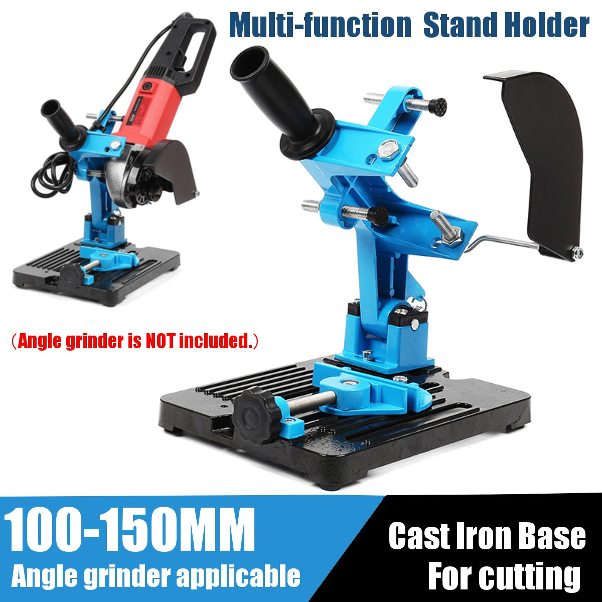 New 115-150 Angle Grinder Stand Double Bearing Bracket Angle Cutter Support Bracket Holder Dock Cast Iron Base Holder 125 angle grinding frame angle grinder holder stand bracket support angle grinder conversion cutter accessories for 115 to 125mm