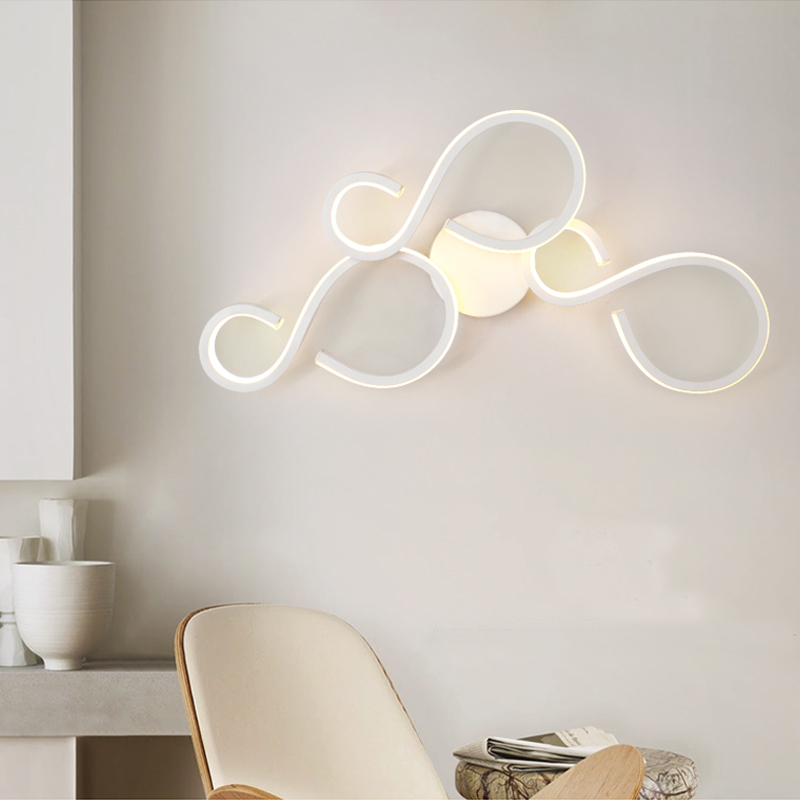 Minimalist Modern Bedroom Wall Lamp Bedside led Lamp Originality Nordic Bathroom led Lighting Office Living Room Wall Lights modern minimalist 9w led acrylic circular wall lights white living room bedroom bedside aisle creative ceiling lamp