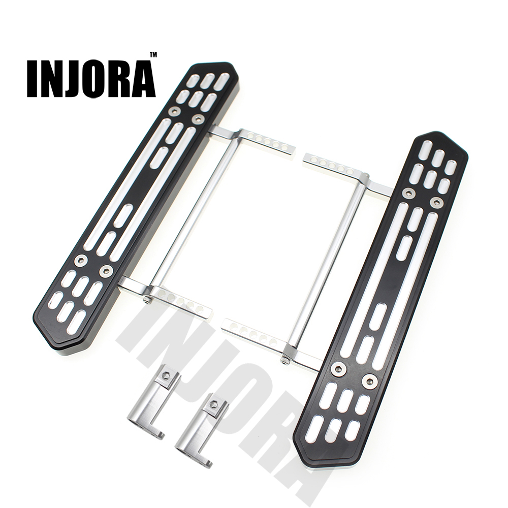 2PCS Metal Side Pedal Plate for 1:10 RC Rock Crawler Axial SCX10 Upgrade Parts 1set axial wraith scx10 metal gears 56t 15t 32p gearbox gears motor pinion gears for rock crawler rc cars upgrade