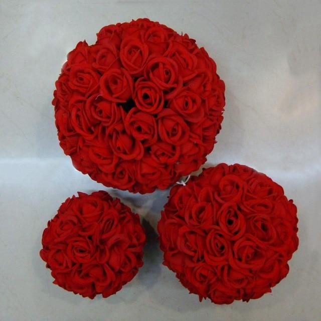 Màu đỏ Miễn Phí vận chuyển 30 cm x 10 pcs Rose hôn bóng hoa lụa nhân tạo trang trí đám cưới