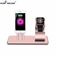 XIN MUM Phone Charger iPod Watch Kickstand Desktop Charging Bracket Watch Dock Holder For Apple iPhone X 8 Plus 7 6 6S 5S