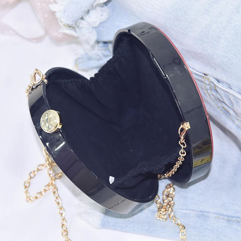 Fashion design cartoon sexy woman acrylic round shape party clutch bag evening bag female chain purse shoulder bag handbag flap in Shoulder Bags from Luggage Bags