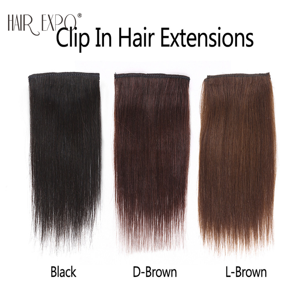 Golden-Beauty-6inch-Brown-Black-Short-straight-Clip-in-Synthetic-Hair-Extensions-One-Piece-False (4)