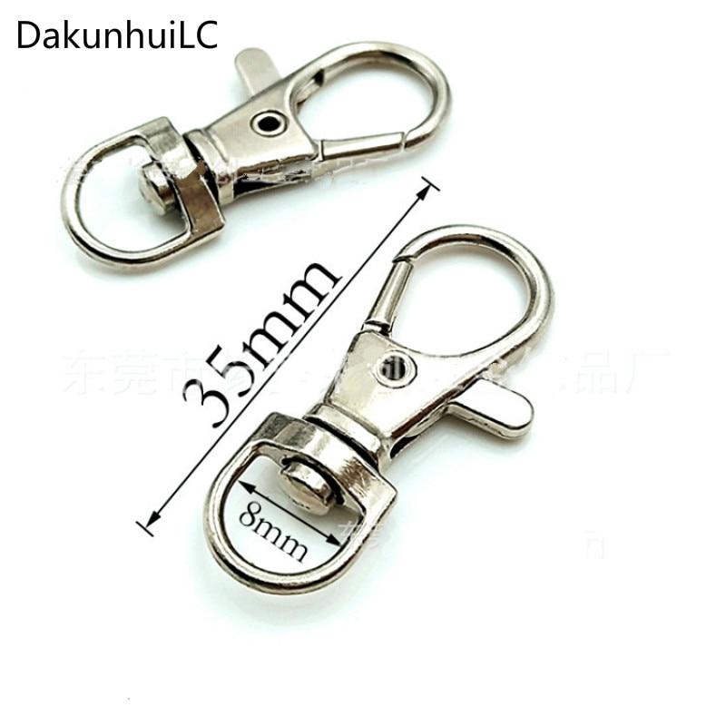 6pcs Durable Metal Carabiner Clip Style Spring Key Chain Keyring~jp