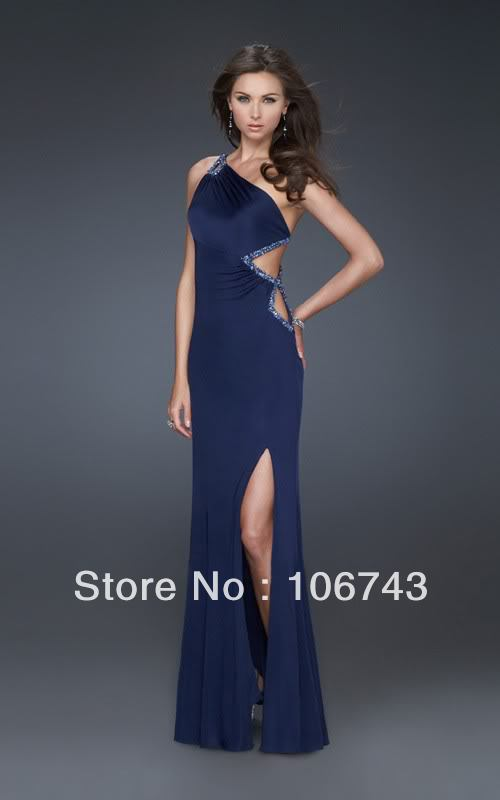 free shipping 2018 best seller new style Sexy brides one shoulder Custom size crystal beading maxi long prom   bridesmaid     dresses