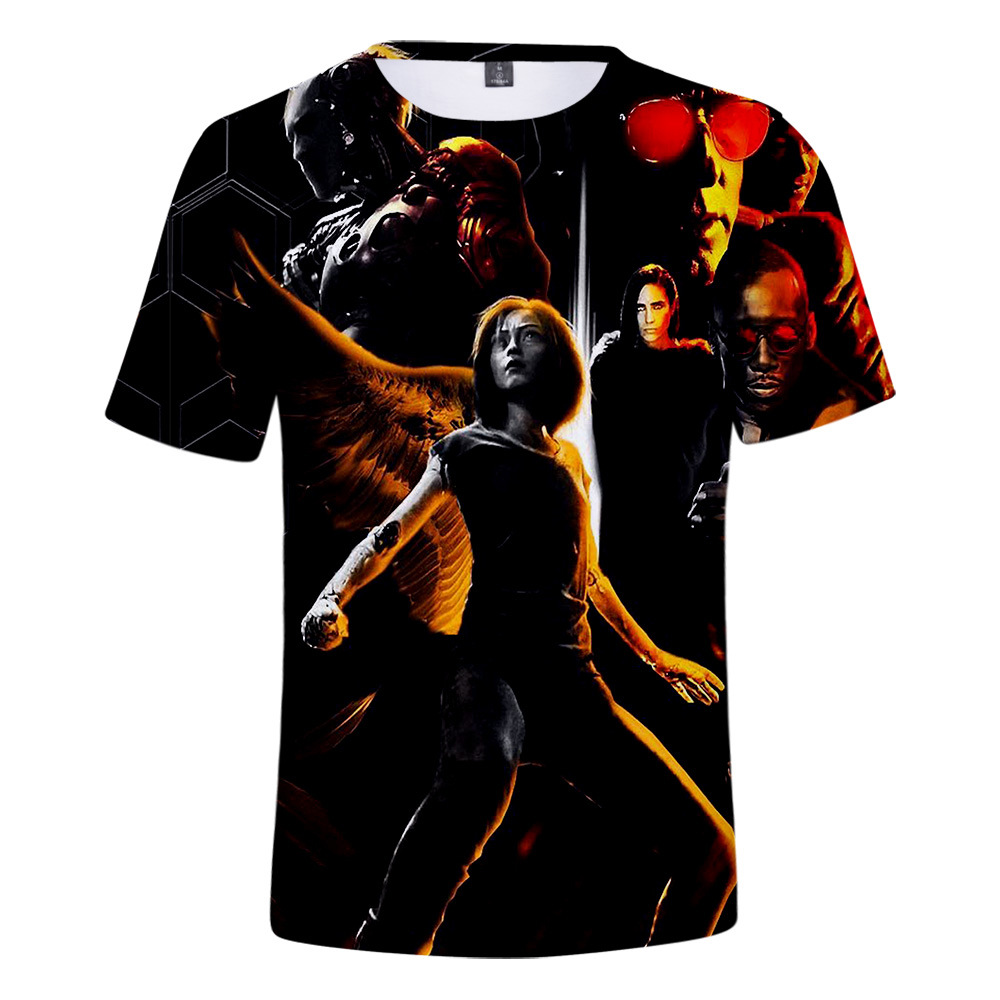 2019 hot search movie Alita Battle Angel Alita Fighting Angel 3D printing T-shirt ladies hip hop streetwear T-shirt