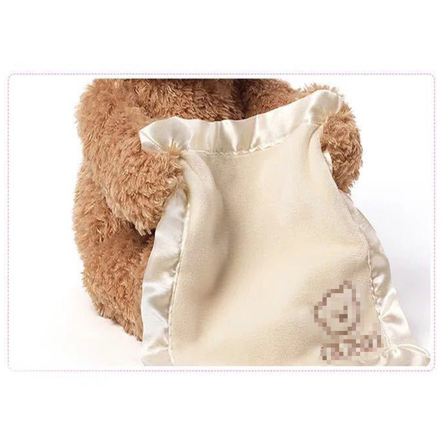 ZXZ Peek a Boo Teddy Bear Play Hide And Seek Lovely Cartoon Stuffed Kids Birthday Gift 30cm Cute Music Bear Plush Toy 3
