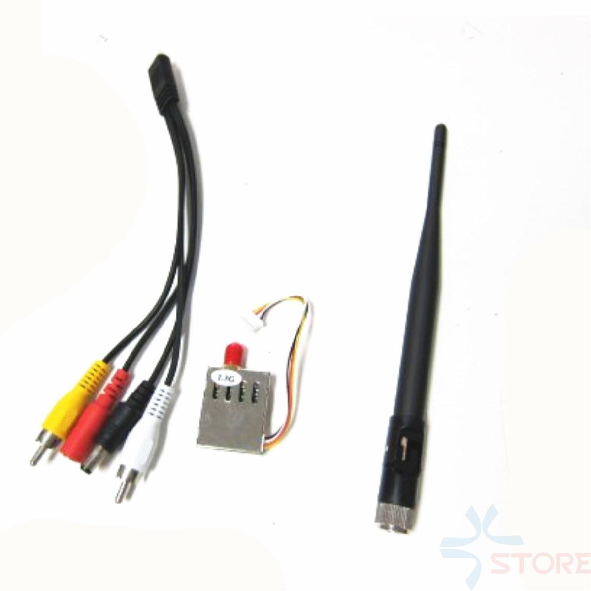 1.2G/1.3G 4CH 200mw Wireless Audio Video 1.240G 1.280G 1.320G 1.360G Video Transmitter Tx for FPV