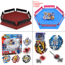 Spin Tops Arena Stadium Toupie Spinning Top Metal 4D Fusion Toys For Children With Launcher Handle #E