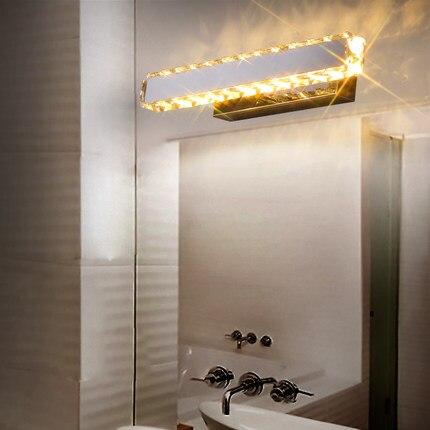 ФОТО 6W Led bathroom mirror light modern minimalist bathroom lamp Crystal Light makeup mirror cabinet lighting
