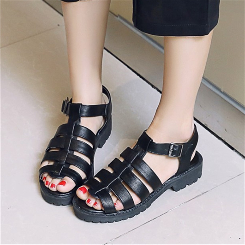Summer High Quality Women Flats Sandals Plus Size 34-43 New Fashion Casual ladies sandalias Comfort  mujer Gladiator Woman Shoes gladiator sandals 2017 summer style comfort flats casual creepers platform pu shoes woman casual beach black sandals plus us 8
