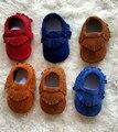 Bebé Niños de Fondos Blandos Primeros Caminante Recién Nacido Niño Bebé Mocasines de Gamuza de Cuero Genuino Soft Moccs Zapatos del Pesebre Zapatos Sapatos