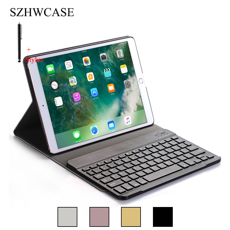For iPad Pro 10.5 Wireless Bluetooth Keyboard Case Cover For iPad Pro 10.5 Shockproof Tablet Flip Leather Stand Funda+Stylus case for ipad pro 10 5 ultra retro pu leather tablet sleeve pouch bag cover for ipad 10 5 inch a1701 a1709 funda tablet case