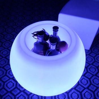 D20*D13*H15cm Sk-LF01B Multi Color Change LED Table Lamp Wireless glowing Light Ball Shaped Led Decorative Lamp Lighting 1pc