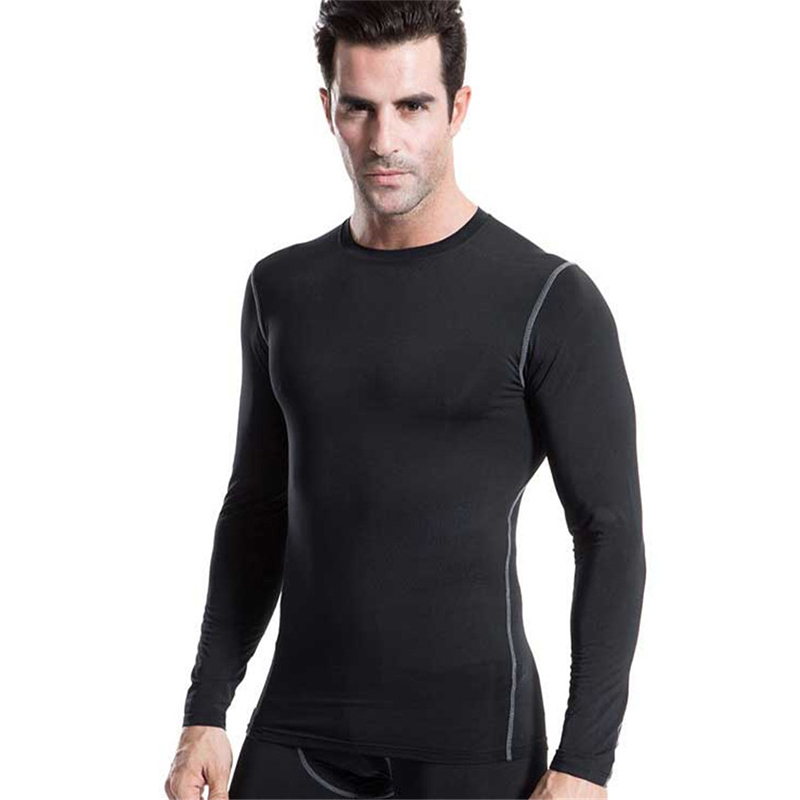 Mens Workout Compression T-Shirts Quick-dry Fitness Top Running Basketball Gym