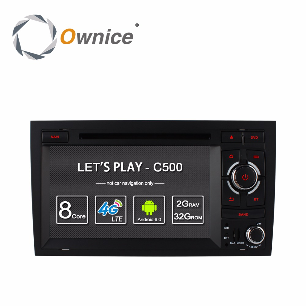 HD 1024 Car DVD Stereo Radio Player For AUDI A4 2002-2008 SEAT EXEO 2009-2012 Octa 8 Core 2GB RAM Android 6.0 GPS Navigation