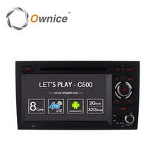 цена на HD 1024 Car DVD Stereo Radio Player For AUDI A4 2002-2008 SEAT EXEO 2009-2012 Octa 8 Core 2GB RAM Android 6.0 GPS Navigation