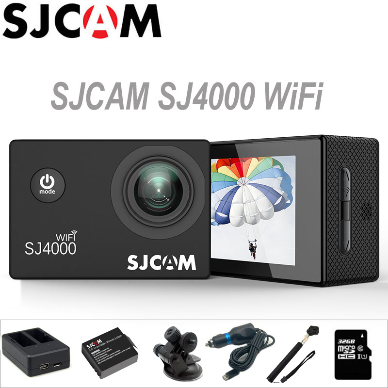 Action Camera SJCAM SJ4000 WiFi Sports DV 2.0 inch Screen Diving 30M Waterproof HD 1080P mini Camcorder Original SJ 4000 Cam