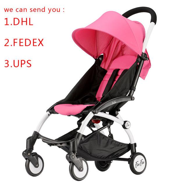 NUEVA 4 colores Bebé suspensión cochecito paisaje de alta altitud portátil y plegable de cuatro ruedas de dos niños cochecito de bebé