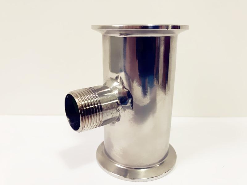 "3//4/"" inch 19MM Tri Clover Sanitary Spool Tube W// 50.5MM Ferrule Flange 4/"" Long"