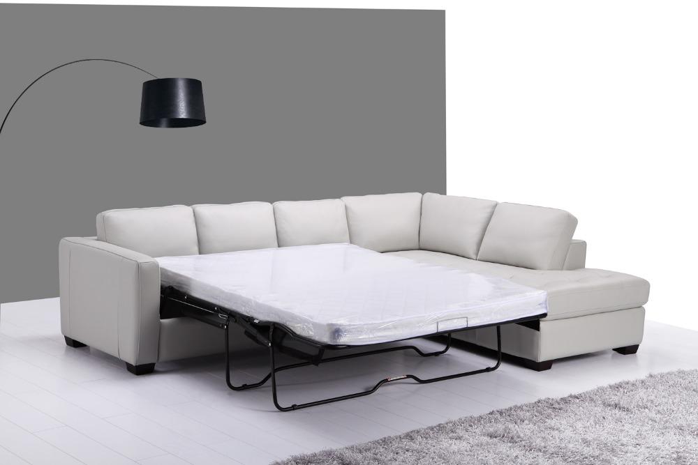 Echtes Leder Sofa Bett Wohnzimmer Mbel Couch Ecksofa Moderne Stil Versendet Durch Meer Um Ihre Port