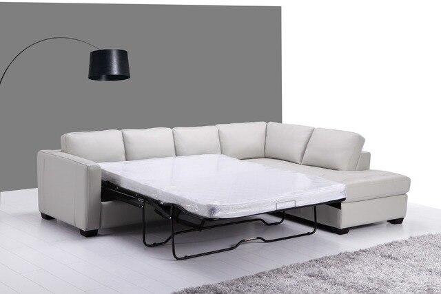 Sof cama de cuero genuino muebles de sala sof sala de estar sof esquina moderno estilo - Sofa cama esquina ...