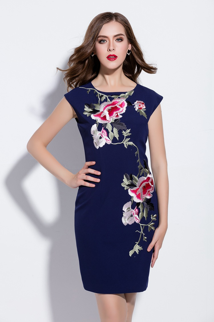 Londinas ark store heavy embroidery flower party dress