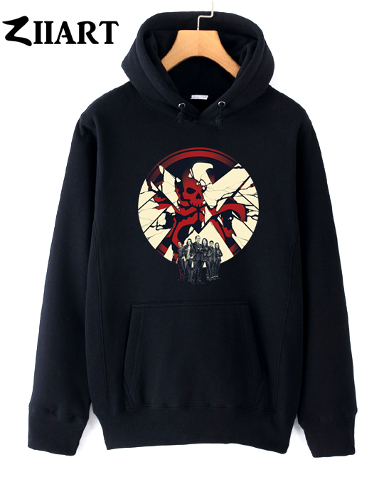 red skull eagle logo Agents of S.H.I.E.L.D couple clothes girls woman female autumn winter cotton fleece hoodies