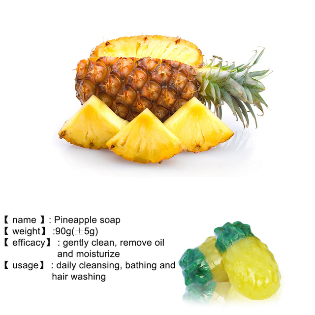 Handmade Whitening Fruit Soap Control Oil Remove Blackheads Anti-Mites Shrinking Pores Soap For Face Body 5
