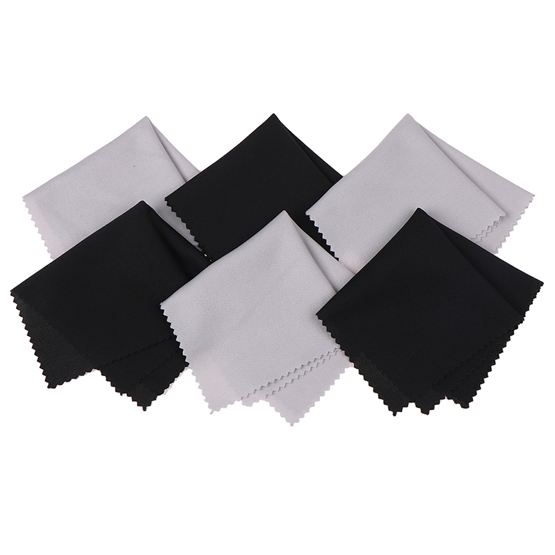 10pcs Microfiber Glasses Cleaning Cloth For Lens Phone Screen Cleaning Wipes  Black High Quality Screen Glasses Cleaner 15*15cm