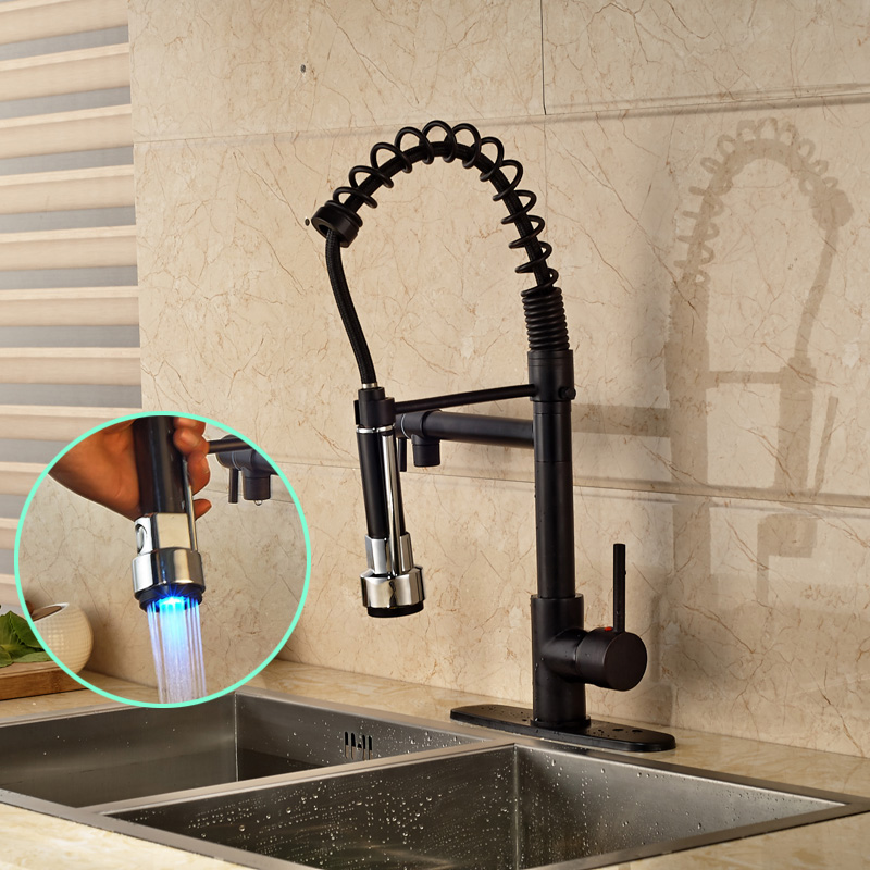 High Quality Best Price Kitchen Faucet Single Handle One Hole Color Changing Sprayer freeshipping cc1101 module 868m with small antenna high quality best price