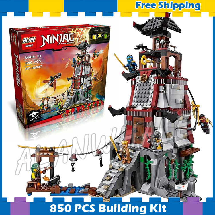 850pcs New Ninja The Lighthouse Siege 10528 Model Building Blocks Kit Children Toys Bricks Christmas Gifts Compatible With lego lepin 06037 compatible lepin ninjagoes minifigures the lighthouse siege 70594 building bricks ninja figure toys for children