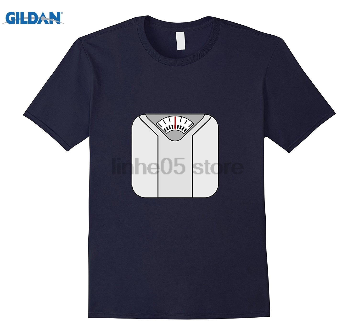 GILDAN Dieting T-Shirt Bathroom Scale Weight Pounds Womens T-shirt