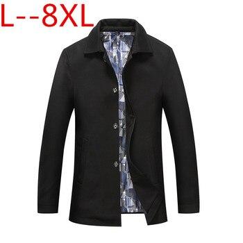 10XL 8XL 6XL New Mens Autumn Jackets And Coats Classic Casual Long Turn-down Collar Jacket Free Shipment Black Blue Autumn Top