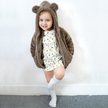Yingzifang 2017 Winter Baby Boys Girls Cotton Cute Bear Hooded Coat Casual Hooded Kids Jacket Children Clothing Sports Suit