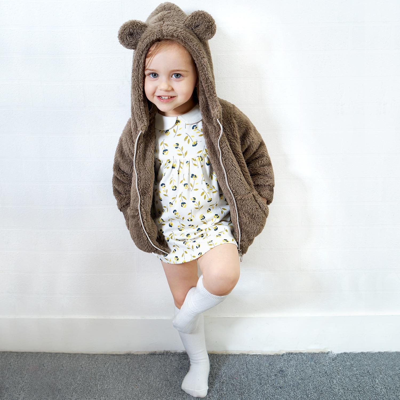 Yingzifang Neue Herbst Winter Baby Mantel Jungen Mädchen Baumwolle Nette Bär Mit Kapuze Mantel Lässig Kinder Jacke Kinder Kleidung Sport Anzug