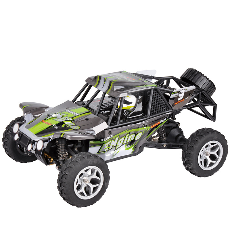Electric RC Car 18429 1/18 40KM high speed RC RTR Brushed Monster 4WD remote control Truck desert Off-road Car with LED light 2017 new arrival a333 1 12 2wd 35km h high speed off road rc car with 390 brushed motor dirt bike toys 10 mins play time