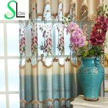 Buy   Curtains Floral Embroidered Luxury Modern  online