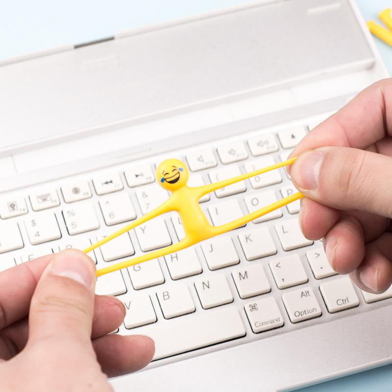 RCtown Criativo Expressão Facial Pessoa Mole Para Aliviar O Estresse Squeeze Toy Mini Silicone Brinquedos Expressão Aleatória