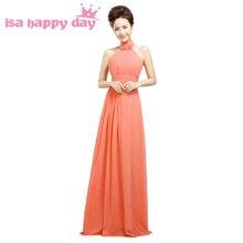 sexy sleeveless woman chiffon halter top bridesmaid dresses 2018 elegant  occassion long formal women s gown free 03adb42d6cba