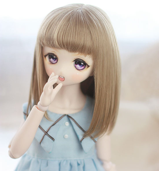 D01-P459 Children Handmade Toy   1/4 1/3 Doll Accessories BJD/SD/MDD Doll Wig Shawl Air Bangs In Long Pear Flower 1pcs