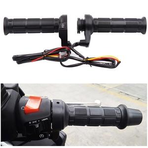 Image 2 - 3 in1 Motorcycle Handlebar Electric Hot Heated Grips Handle +Voltage Motorcycle Motorbike New