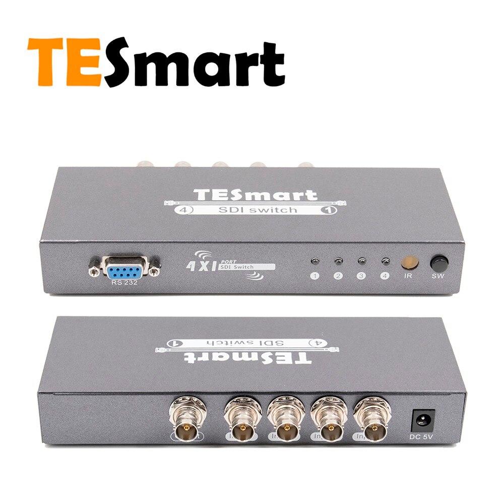 3g-sdi Unterstützung 1080 P Tesmart 4 Ports 4x1 Premium Qualität Sdi Schalter 4 In 1 Heraus Unterstützt Sd-sdi Hd-sdi