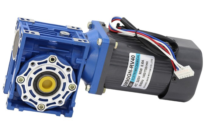 90W worm gear motor RV40 single-phase 220v AC speed motor torque positive and negative electric motor ratio 5:1-80:1 60w ac reversible motor 5rk60gu cf with gear ratio 90 1 output speed is 15 r m gear head 5rgu 90k